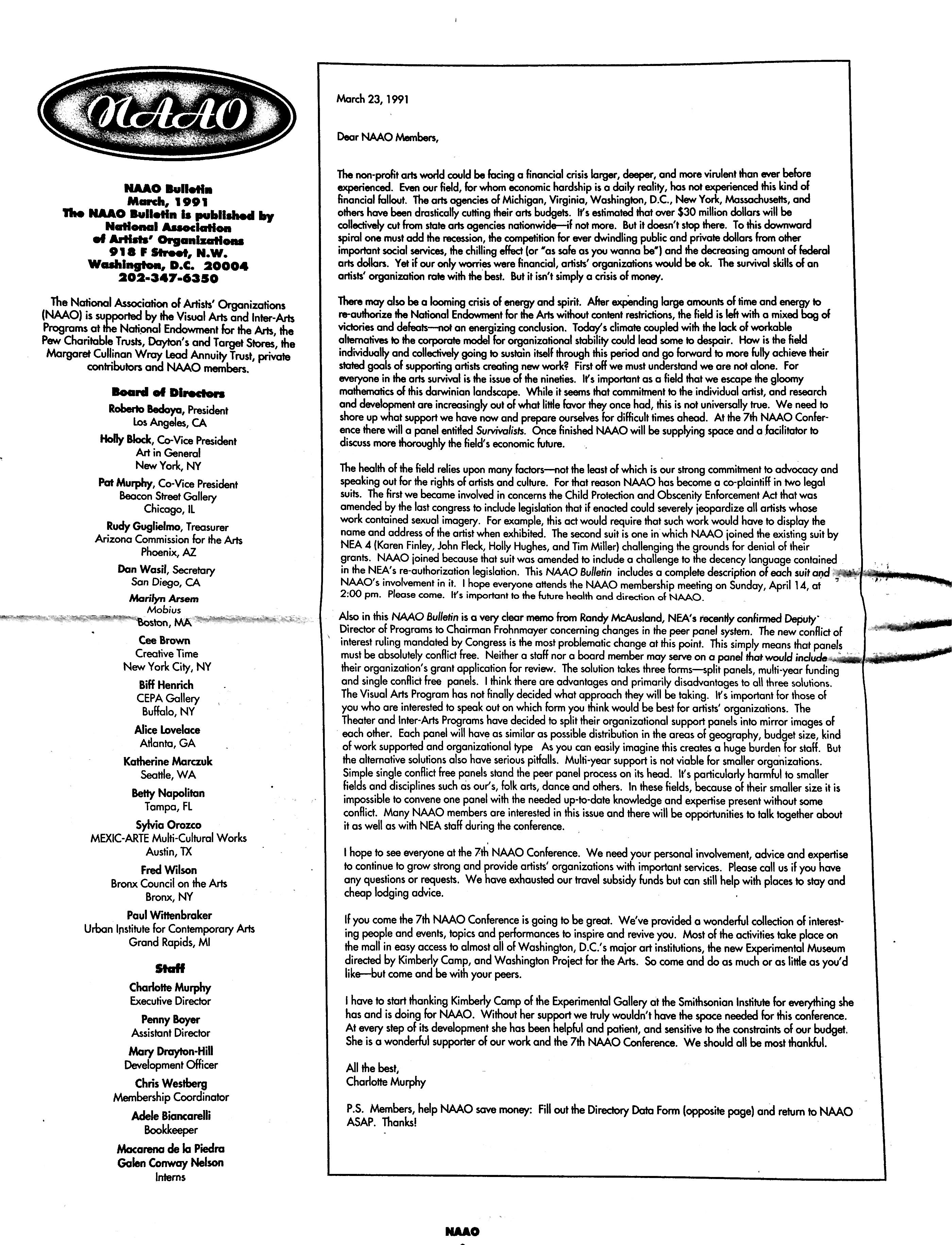 March 1991 - NAAO Bulletin Page 2.jpg