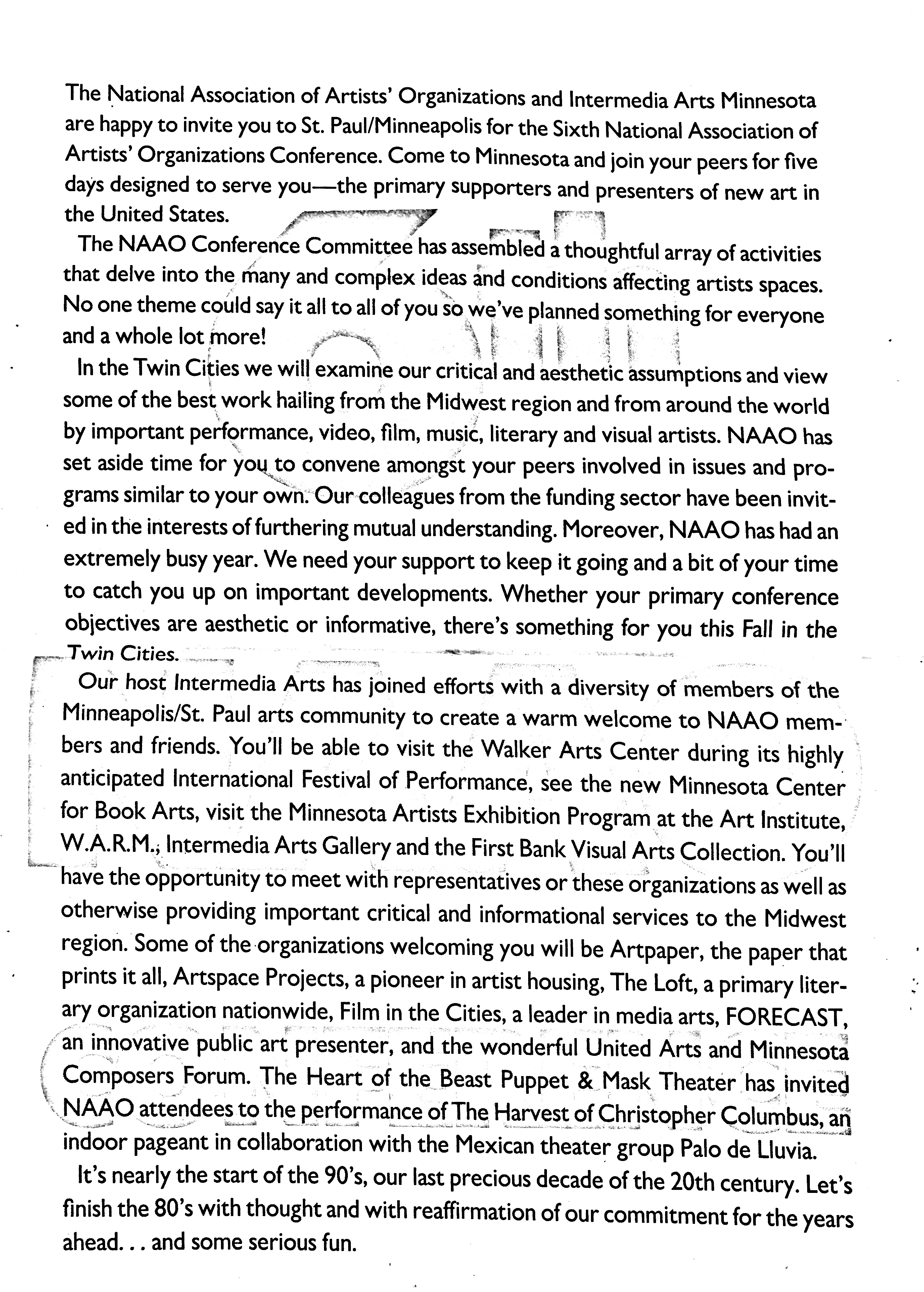 October 11-15, 1989 - 6th NAAO Conference Page 1.jpg
