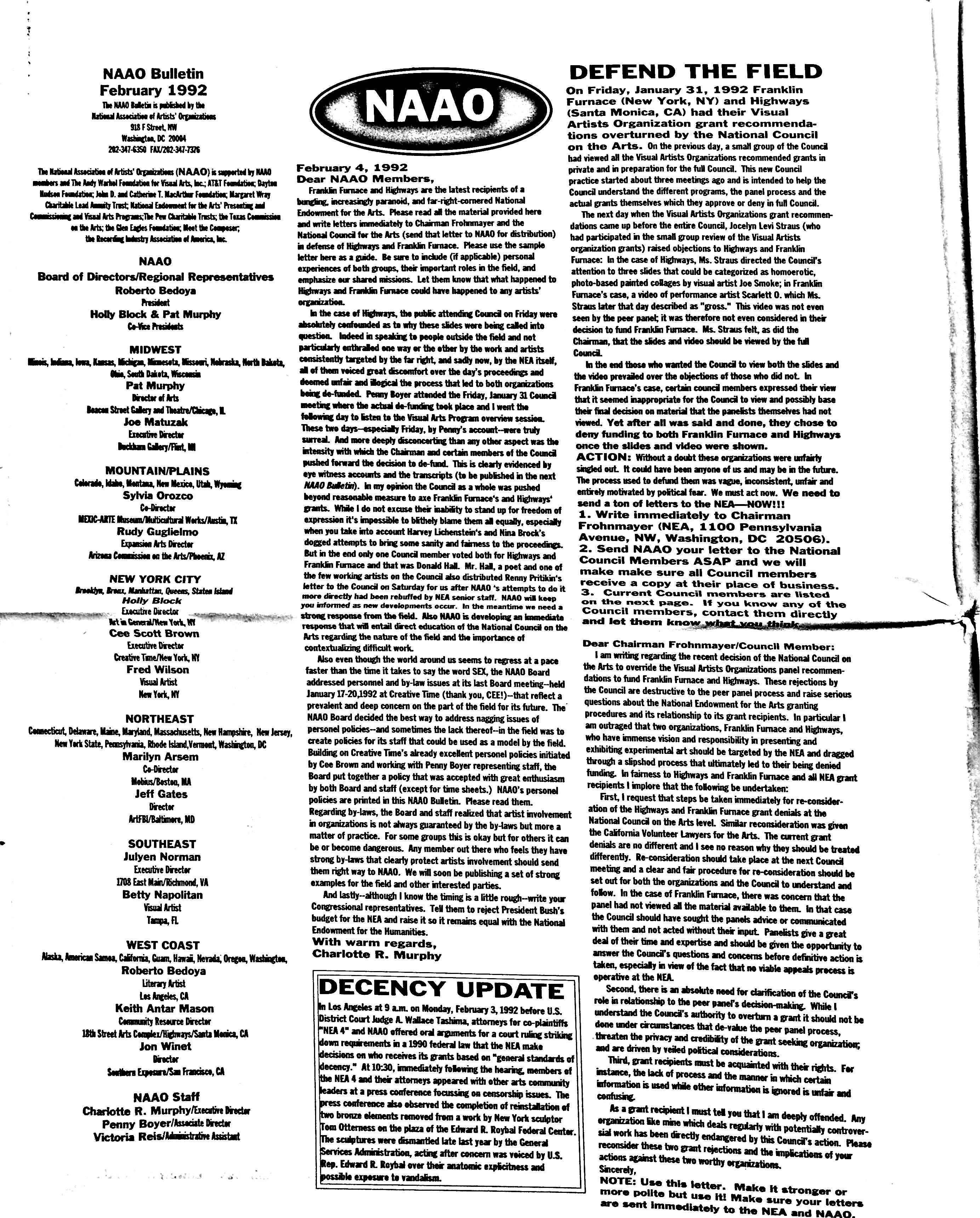 February 1992 - NAAO Bulletin Page 2.jpg